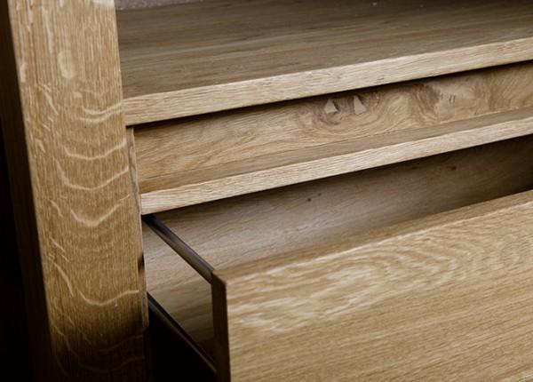 Massief houten badmeubel Columbia detail