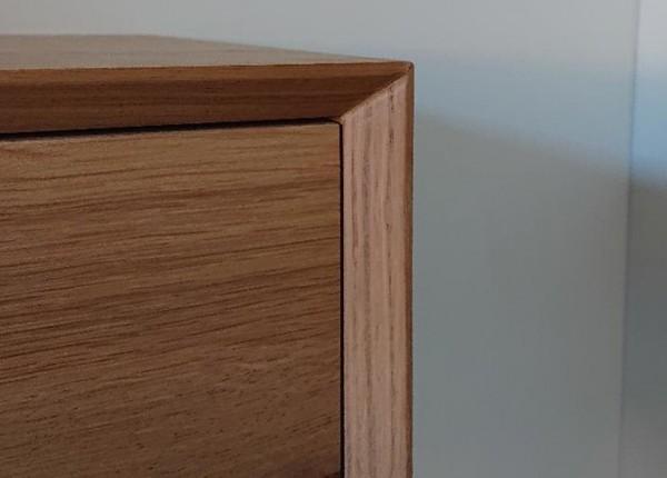 Massief houten badmeubel Kalmar detail