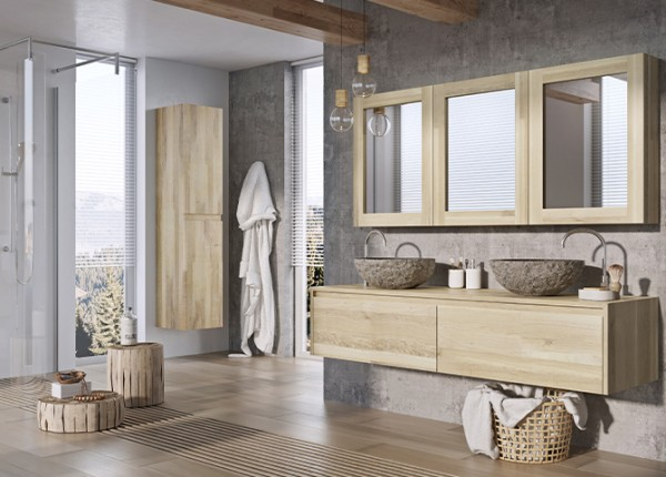 Massief houten badmeubel Malmö 160 cm